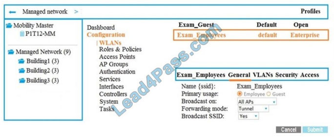 hp HPE6-A70 exam questions q7-1