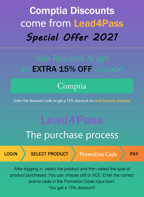 comptia exam certification coupon code 2021